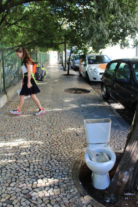 Lissabon Müll