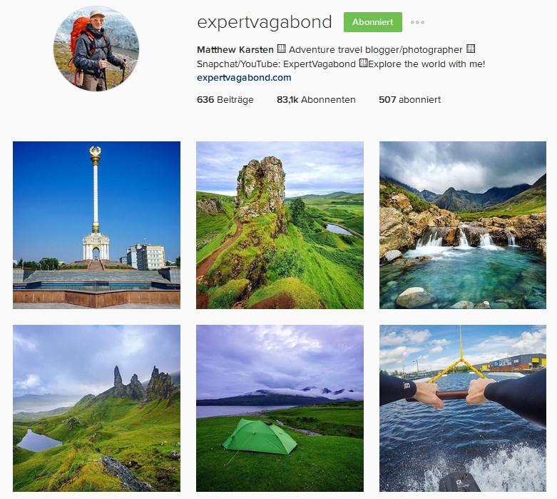 expertvagabond Instagram Reiseblogger