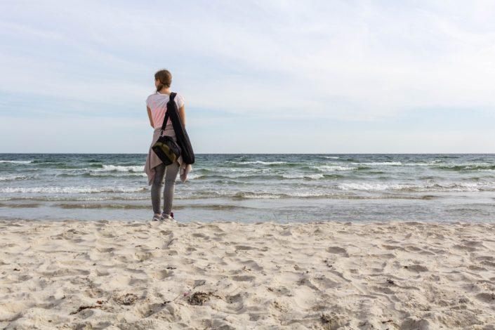 Caterina am Strand - Sandhammaren