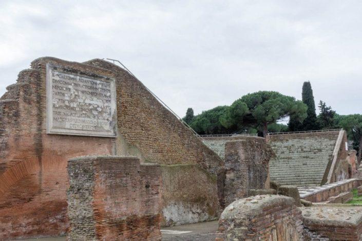 Ruinen in Ostia Antica