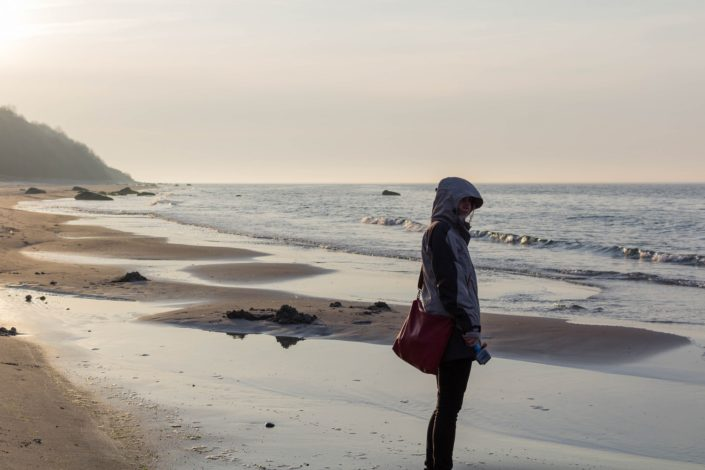 versteckter Strand auf Rügen