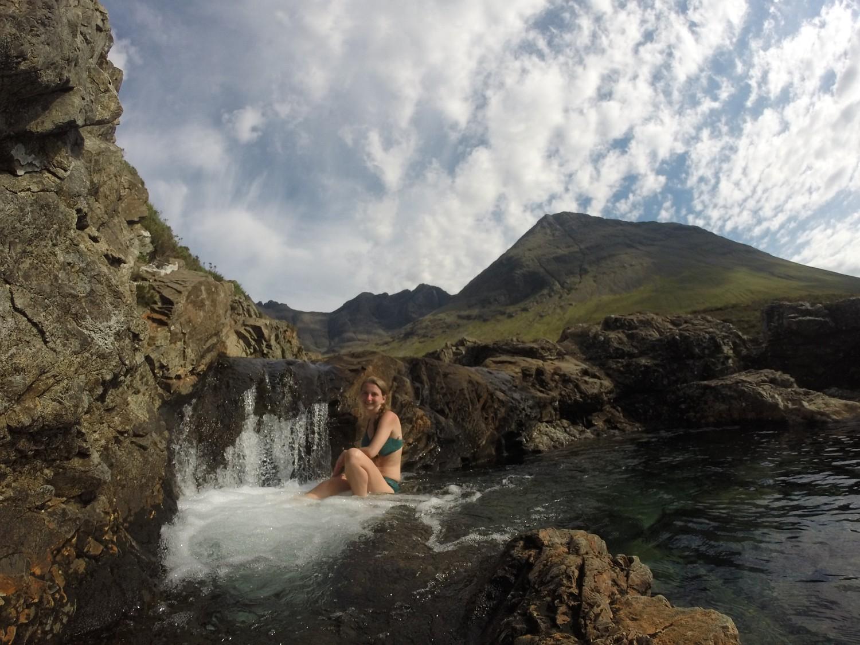 Baden in den Fairy Pools