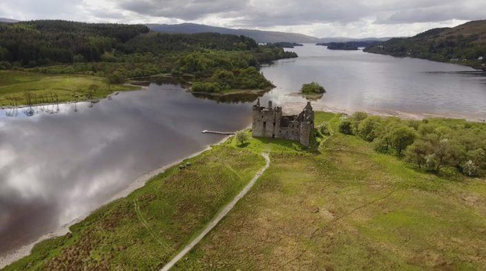 Kilchurn Castle von oben