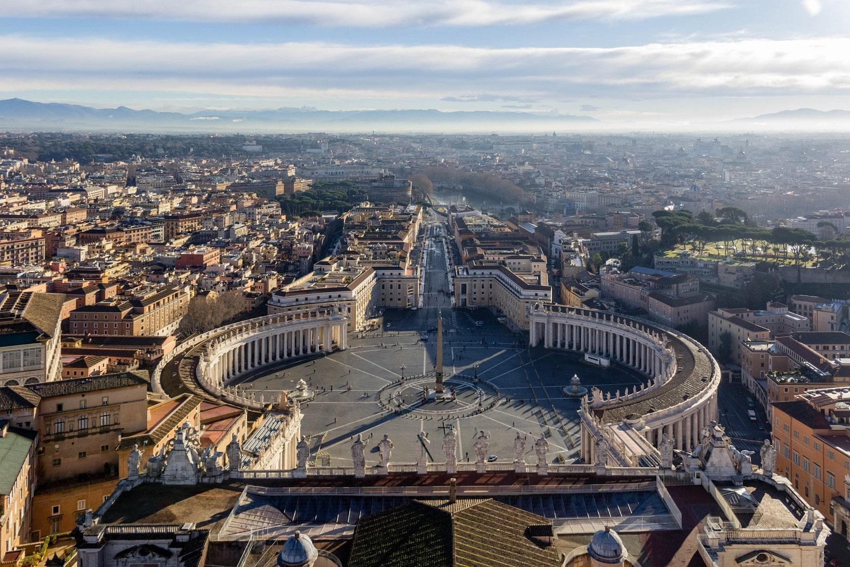 Ausblick auf den Petersplatz