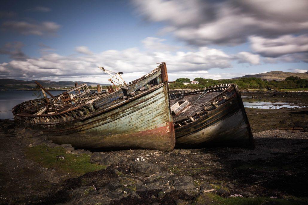 Schiffswracks bei Salen, Isle of Mull