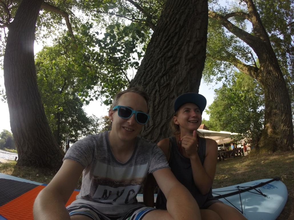 SUP-Tour zur Melchers Hütte auf der Hamme