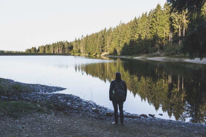 Neuer Grumbacher Teich Spiegelung