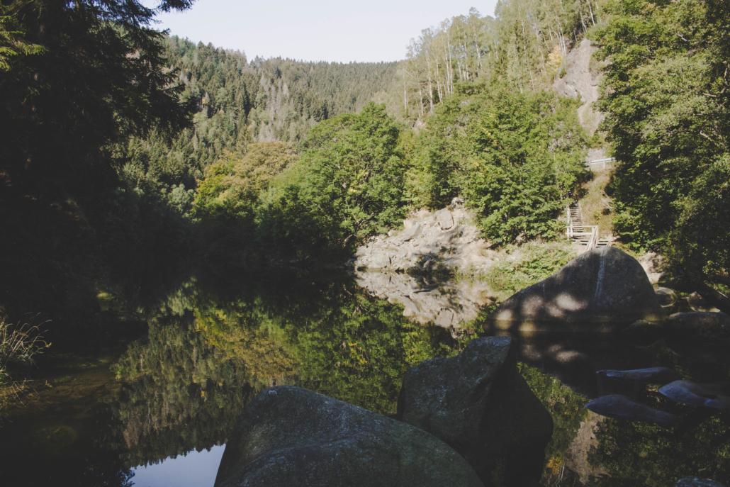 Okertal Spiegelung im Wasser
