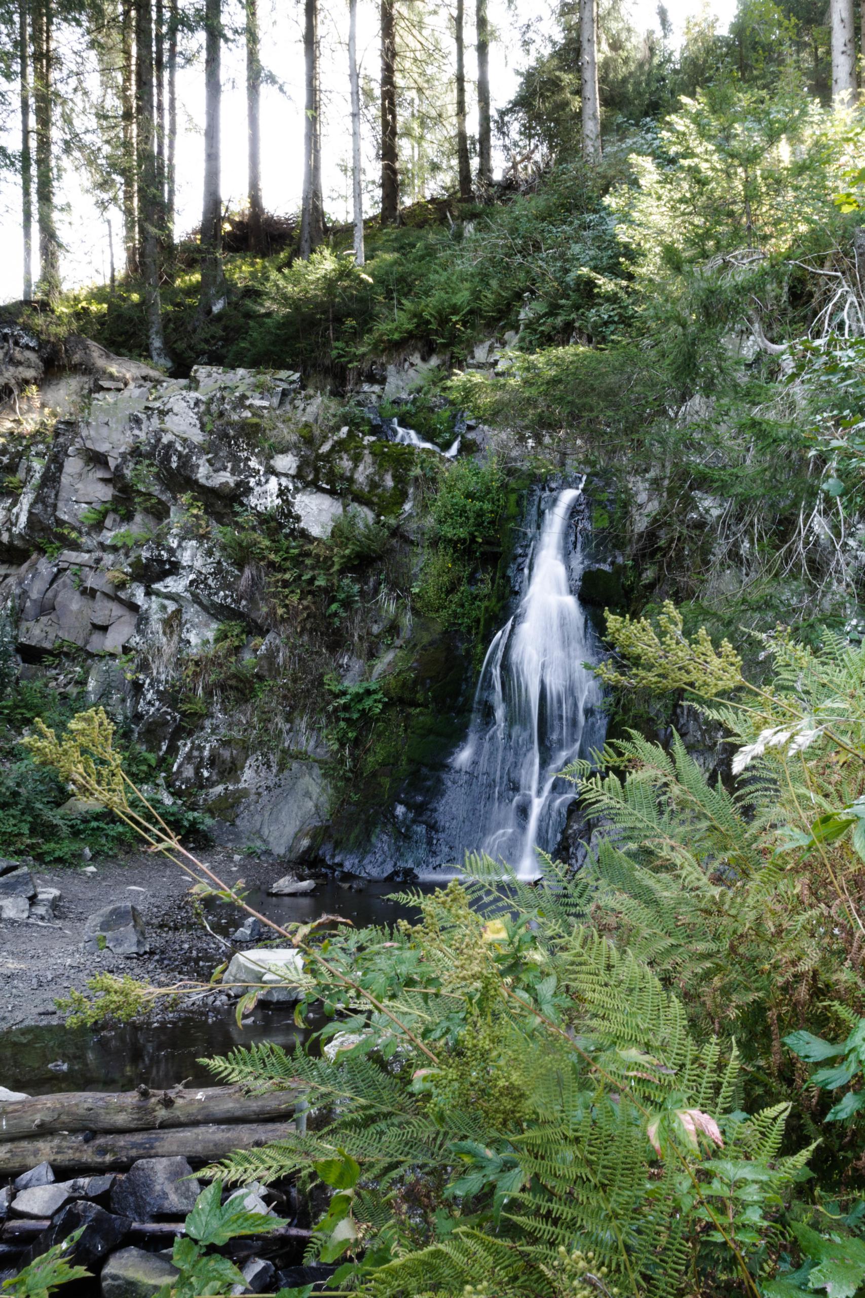 Spiegelthaler Wasserfall Langzeitbelichtung