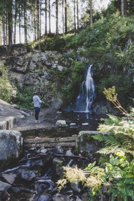 Besuch am Spiegelthaler Wasserfall