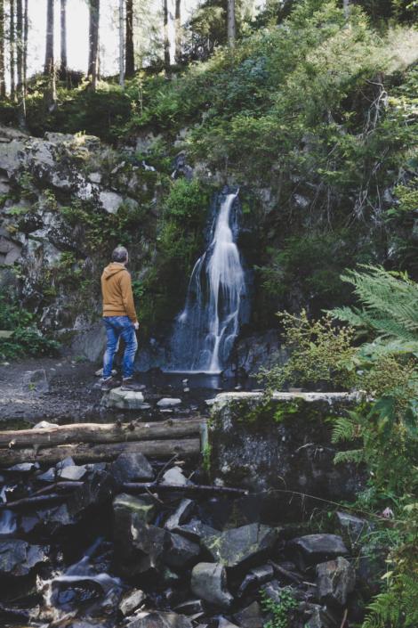 Christian Hartmann am Spiegelthaler Wasserfall