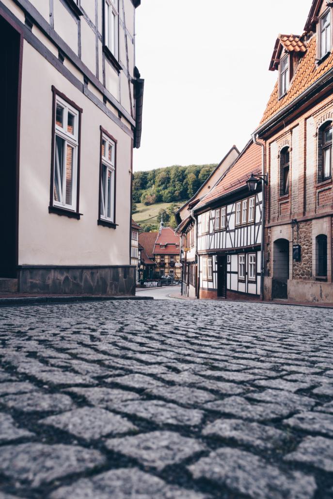 Straße in Stolberg im Harz