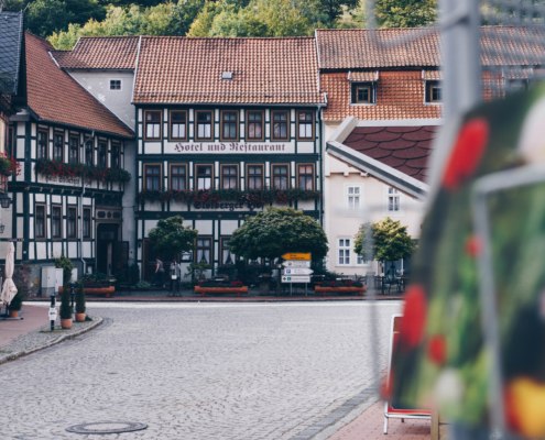 Marktplatz in Stolberg im Harz